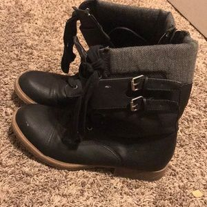 Rampage Black Combat Boots